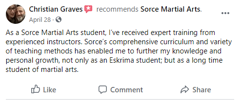 Eskrima Review, Sorce Martial Arts in South Milwaukee